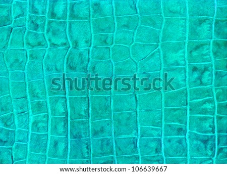 Green reptile leather imitation texture - stock photo