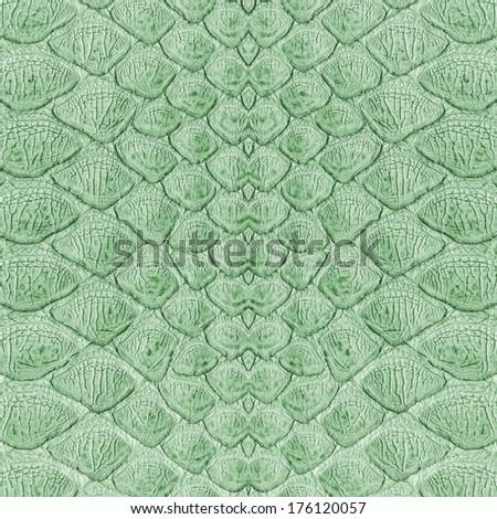 green reptile skin   - stock photo