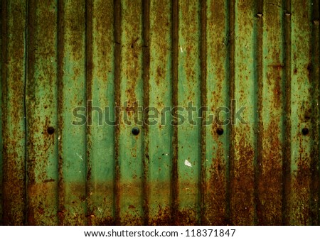 Green Rusty wall ,use as background - stock photo
