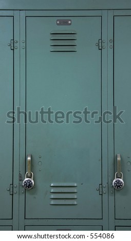 Green School Locker - stock photo