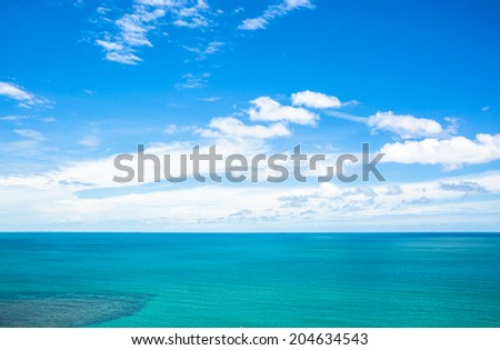 Green sea in summer - stock photo