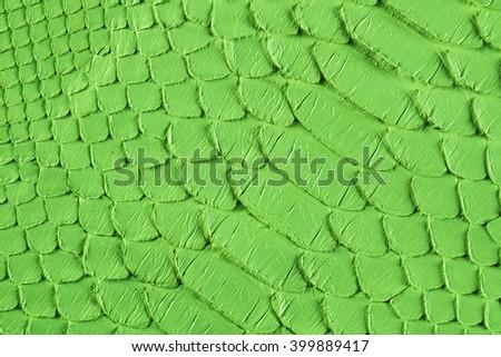 Green snake scales macro background - stock photo