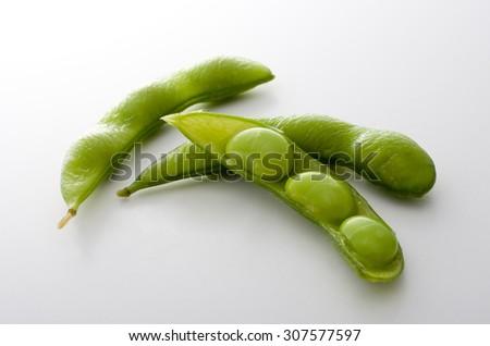 green soybean - stock photo