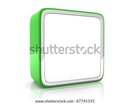 Green Speech bubble - 3d render - stock photo