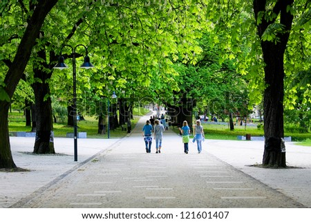 Green spring park - stock photo