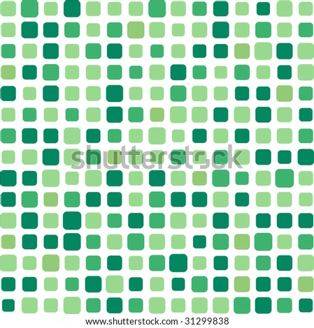 Green square mosaic background - stock photo