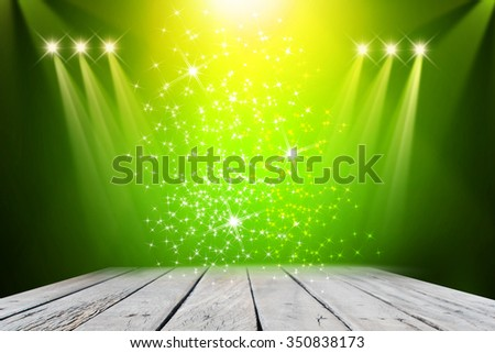 Green stage background  - stock photo