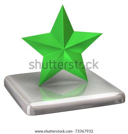 Green star - stock photo