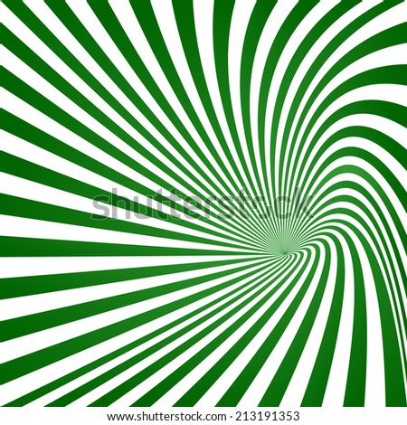 Green striped vortex design - jpeg version - stock photo