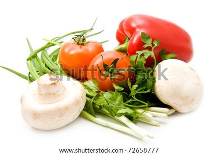 green-stuffs on a white background - stock photo