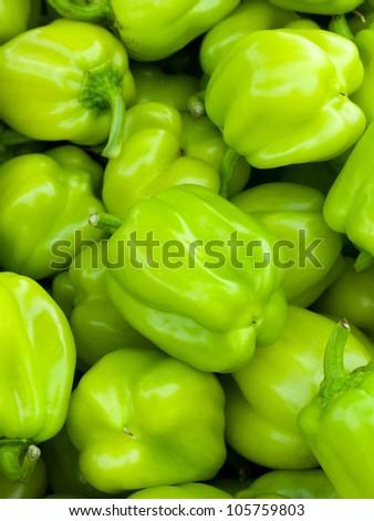 Green sweet pepper - stock photo