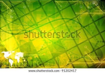 Green  technology Background - stock photo
