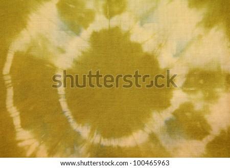 Green Tie-Dye fabric pattern - stock photo