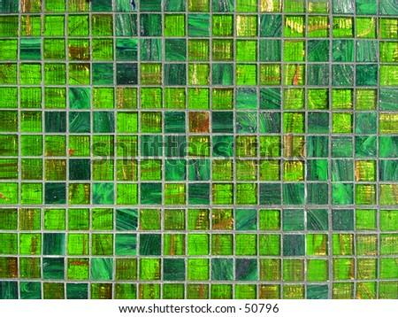 Green tiles - stock photo
