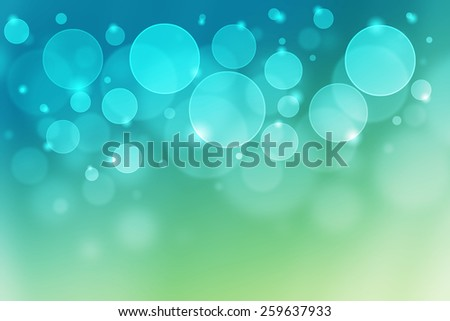 green to blue gradient color abstract background with bokeh - stock photo