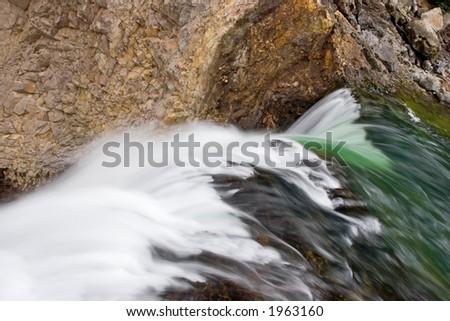 Green to White - stock photo