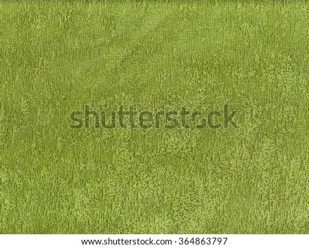 Green towel texture. Background and texture. - stock photo