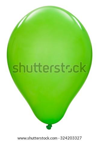 Green toy balloon - stock photo