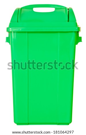 green trash on isolated white background, clipping path. - stock photo