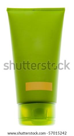 Green tube - stock photo