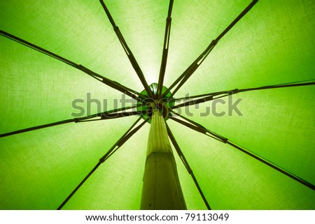 Green Umbrella. - stock photo