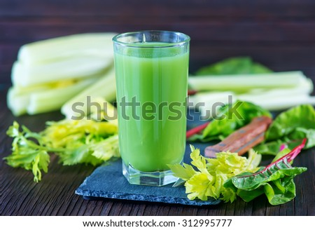 green vegetable juice - stock photo
