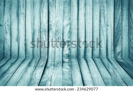 green wall and floor siding weathered old wood background - stock photo