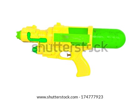 Green water gun - stock photo