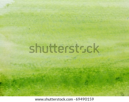 Green Watercolor 3 - stock photo