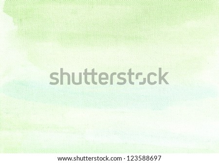 green watercolor background abstraction - stock photo