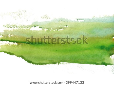 green watercolor stain - stock photo