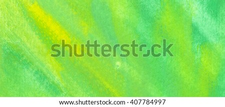 Green watercolor texture background. Hand paint texture, watercolor textured backdrop. - stock photo
