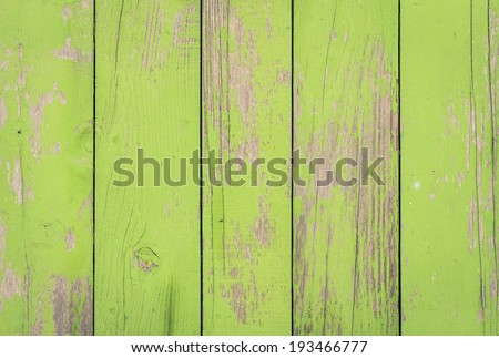 Green wood background - Wooden pattern fence ecological old vintage material - stock photo