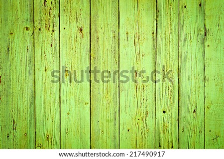 green wood texture background. old wood planks painted with green color - stock photo