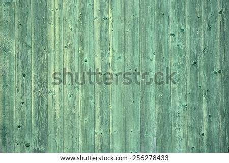 Green wooden background - stock photo
