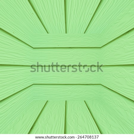 Green wooden box background or sepia planks texture - stock photo