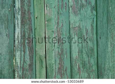 Green wooden wall pattern - stock photo