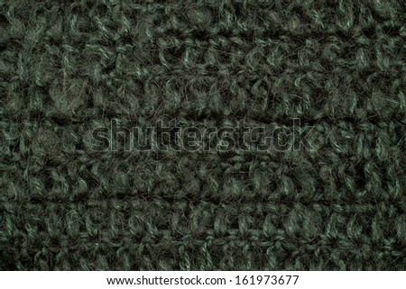 Green wool background - stock photo