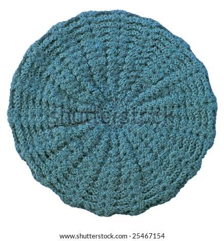 green woolen knitted cap - stock photo