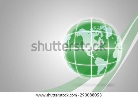 green world background - stock photo