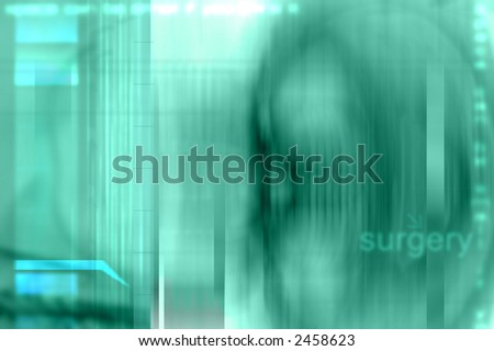 Green x-ray like surgery background illustration. - stock photo