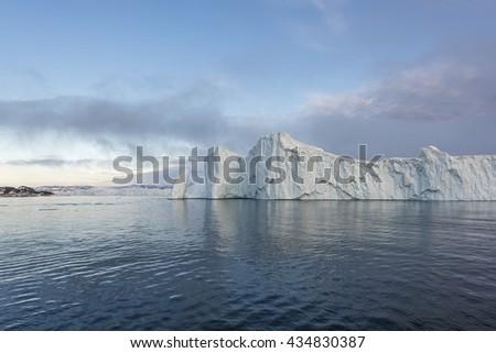 Greenland, glaciers - stock photo