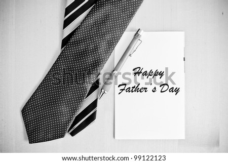 Greeting Card for Father's Day - stock photo