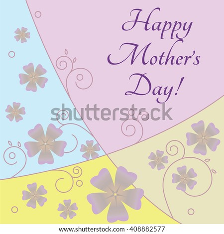 Greeting card for Mother's Day. Raster version. - stock photo