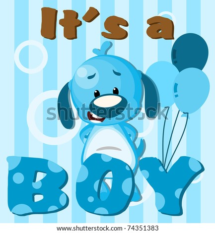 Greeting card It's a boy card - stock photo