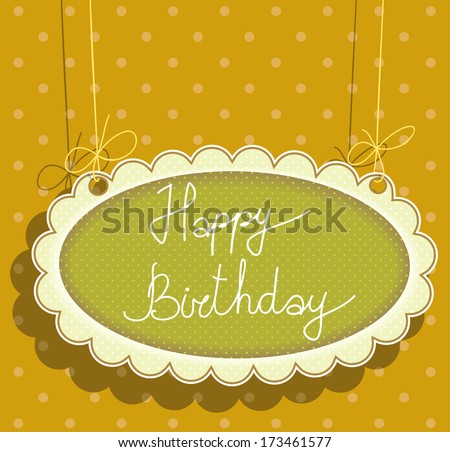 greeting card with happy birthday. raster version. - stock photo
