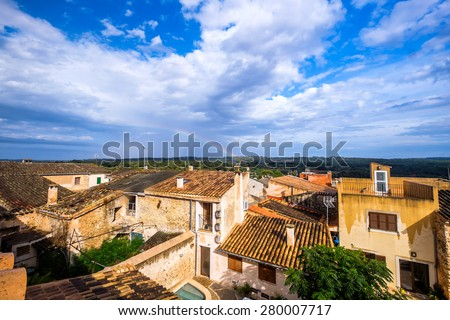 Greetings from Mallorca, the beautiful island in Spain - stock photo