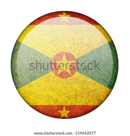 Grenada button flag - stock photo