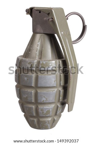 grenade isolated on a white background - stock photo