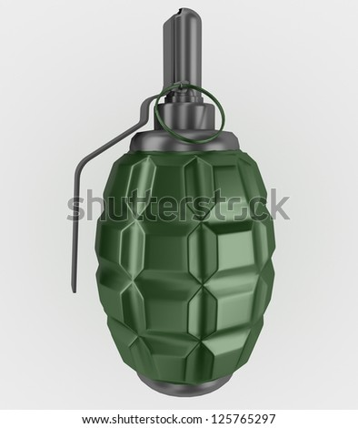 grenade isolated on white background - stock photo